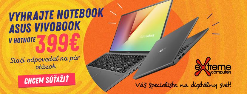Súťažte o notebook ASUS Vivobook s Extremepcshop.sk!
