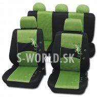 Autopoťahy Gecko - zelená