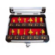 Frézy tvarové do dreva s SK plátkami Extol Premium 12 ks