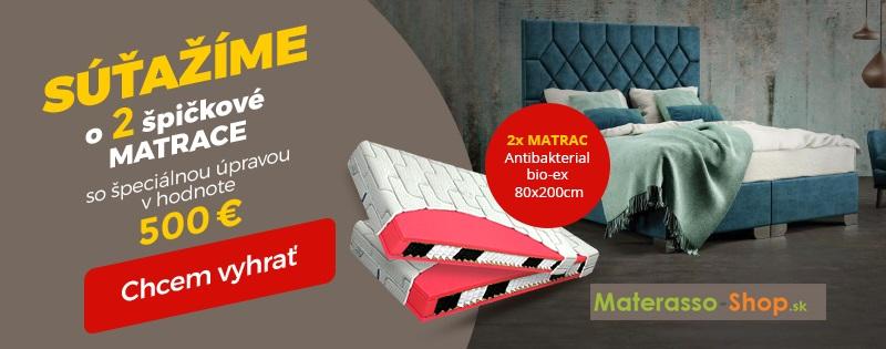 Vyhrajte 2 špičkové matrace od Materasso-shop.sk!