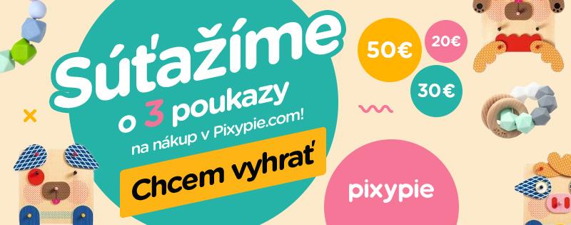 Vyhrajte poukážky na nákup v e-shope Pixypie
