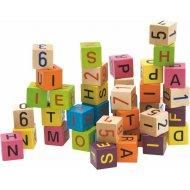 Woody kocky s písmenami a číslami