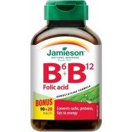 Jamieson Vitamín B6 + B12 + Folic Acid 110tbl