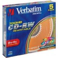 Verbatim 43133 CD-RW 700MB 5ks