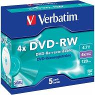 Verbatim 43285 DVD-RW 4.7GB 5ks