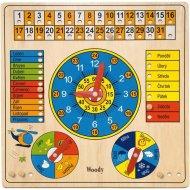 Woody Viacúčelový kalendár s hodinami a barometrom 90649
