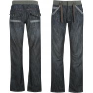 Voodoo Dolls Ribbed Waist Jeans