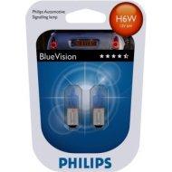 Philips H6W BlueVision BAX9s 6W 2ks