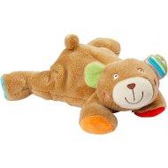 Baby Fehn Oskar ležiaci medvedík plnený guľôčkami
