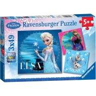 Ravensburger Ladové kráľovstvo Elsa - 3x49