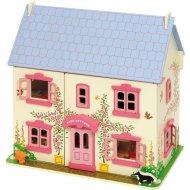 Bigjigs Toys Ružový domček pre bábiky